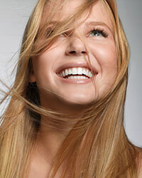 image of a smiling blonde girl
